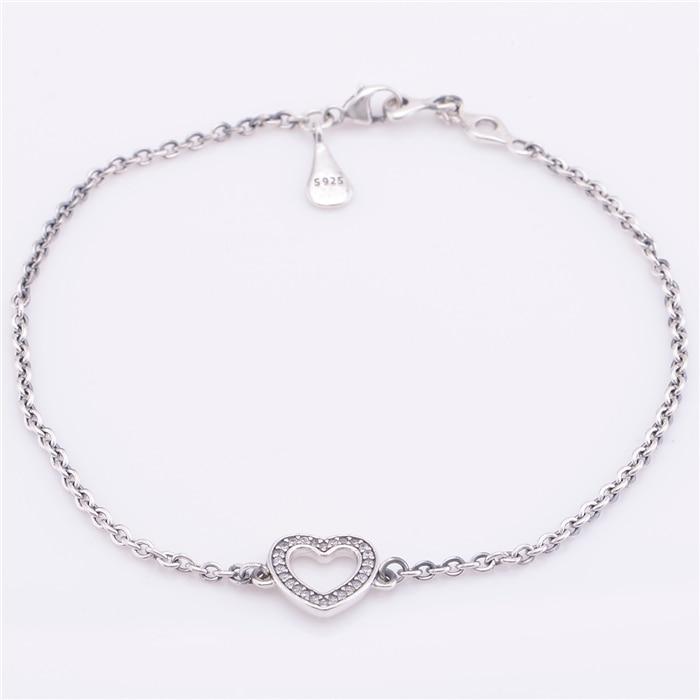 Compatible European Style Jewelry Symbol Of Love Bracelet 100 925