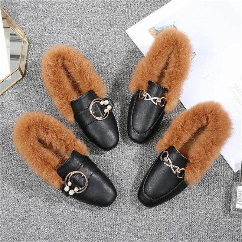 En Appartements Cuir Taille Ceinture black Coton 2018 S Femmes 002 104 Casual 43 Rembourré Pu Grande 34 D'hiver Black 001 Chaussures 7PAxYwqw