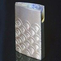Hand Engraving Sea Wave Pattern Brass Sword Collar Habaki For Japanese Samurai Katana Wakizashi And Tanto Fitting