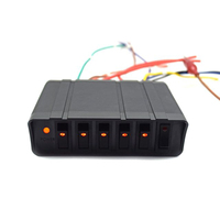 Autoleader 6 Gang LED Switch Panel Car Modification Control Panel Box Universal Switch Button Panel Led Controller Switch Box