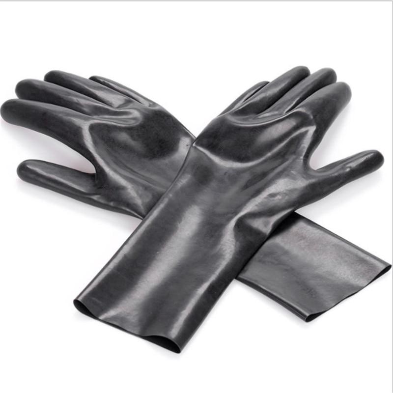 Short latex gloves