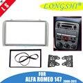 Фасция для ALFA ROMEO 147 радио DVD стерео CD панель Dash Double 2 Din Facia Монтажная установка комплект отделка рамка для лица Безель 2din