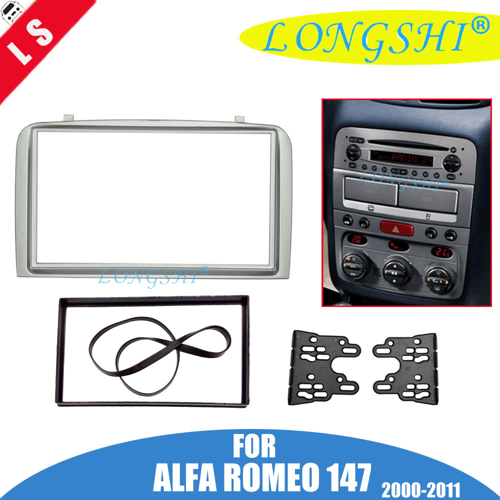 Fascia For ALFA ROMEO 147 Radio DVD Stereo CD Panel Dash Double 2 Din Facia Mounting Installation Trim Kit Face Frame Bezel 2din shakespeare william rdr cd [lv 2] romeo and juliet