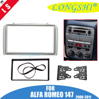 Fascia For ALFA ROMEO 147 Radio DVD Stereo CD Panel Dash Double 2 Din Facia Mounting Installation Trim Kit Face Frame Bezel 2din