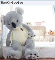 stuffed plush toy huge 140cm cute gray koala plush toy soft doll hugging pillow birthday gift s0156