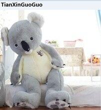 stuffed plush toy huge 140cm cute gray koala plush toy soft doll hugging pillow birthday gift