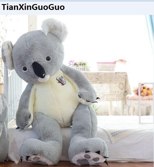 stuffed plush toy huge 140cm font b cute b font gray koala plush toy soft doll