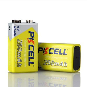 Image 2 - 2Pack/2Pcs PKCELL Ni MH 9V Battery 250mAh Rechargeable Battery for electronic thermometer
