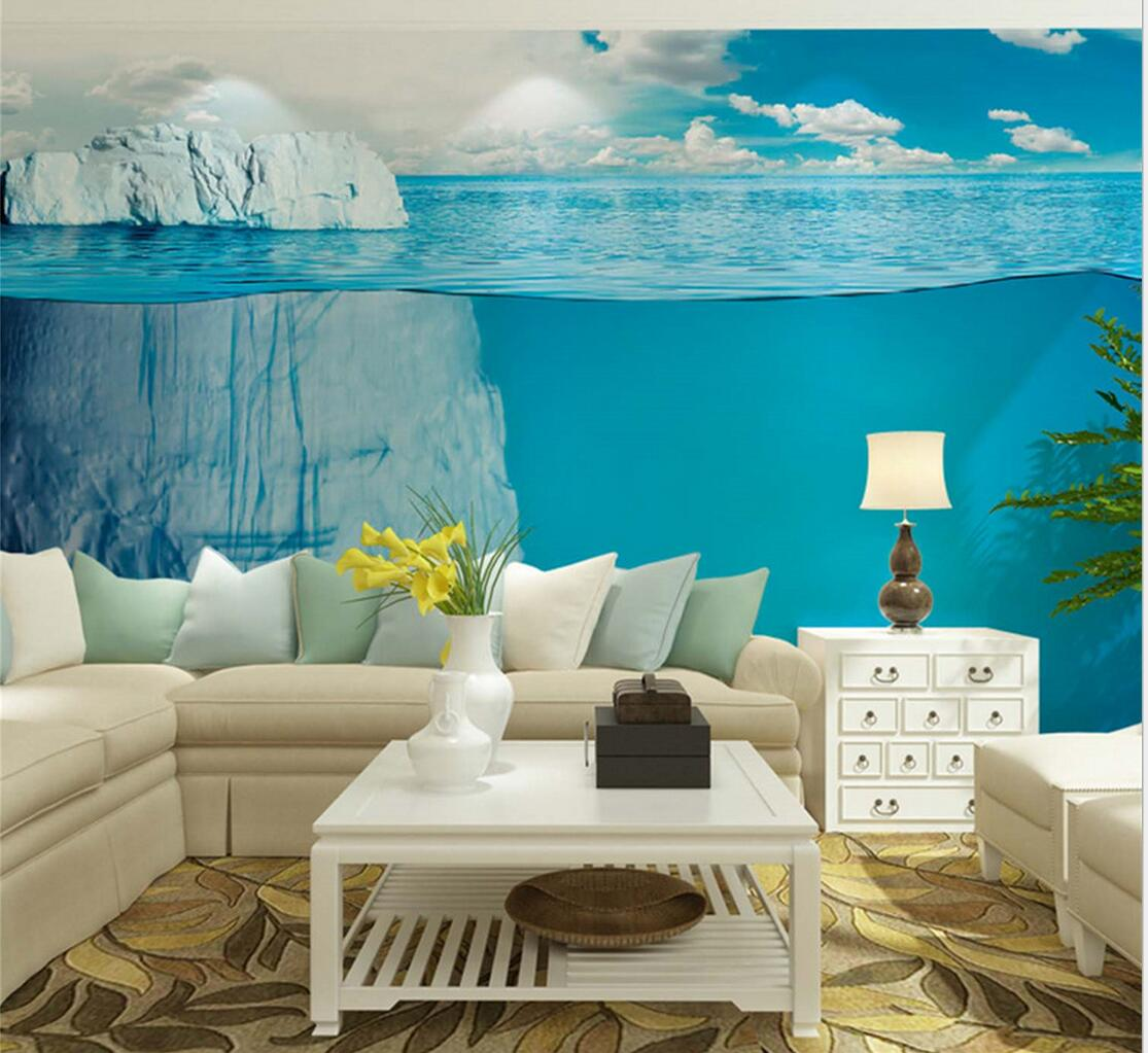 popular wall art roll buy cheap wall art roll lots from china wall icebergs sea world large photo wallpaper mural living room bedroom wall art decor landscape wall paper