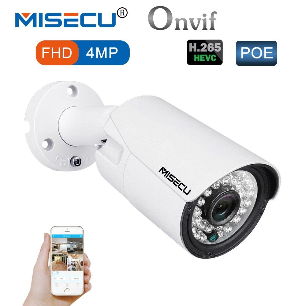 MISECU 4.0MP H.265/H.264 48 В POE Hi3516D OV4689 IP Камера Металл Широкий динамический 1 RS485 ONVIF 2592*1520 P2P 36 ИК ночного просмотра электронной почты