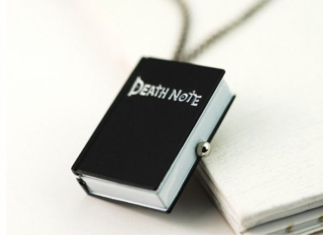 2018 New Superb New Unique Death Note Bronze Necklace Chain Pocket Watch Necklace Chain Gift  Drop Shipping Wholesale CLAUDIA