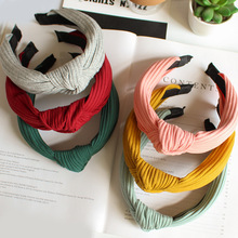New Hairbands For Women Girls Solid Color Head Bands Knitting Twisted Knotted Hair Bezel Lady Hoop Female Accessories