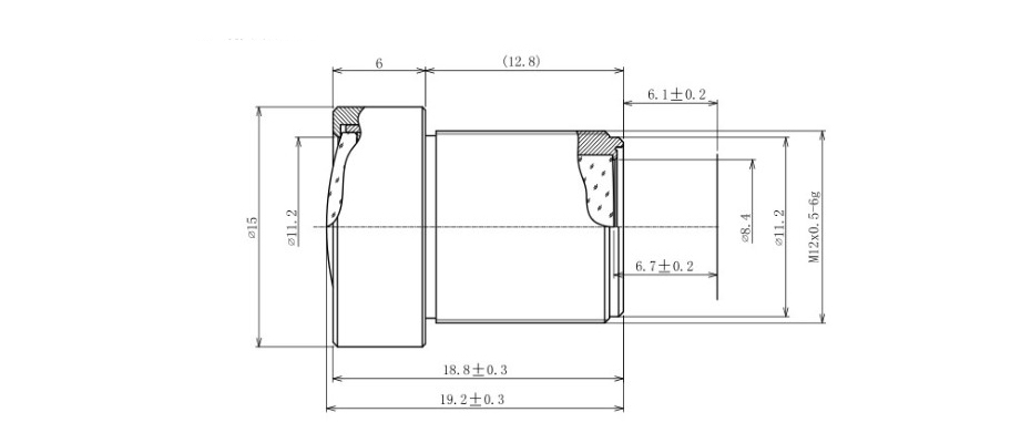 4K LENS 12mm 1/1.8 Inch 34D M12 HFOV 10MP Lens