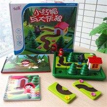 赤ずきんフードスマート IQ チャレンジボードゲームのパズルのおもちゃ英語ソリューション Speelgoed Brinquedo Oyunc51