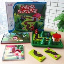 Jeux de société de défi IQ intelligent, petit chaperon rouge, jouets Puzzle pour enfants avec Solution anglaise