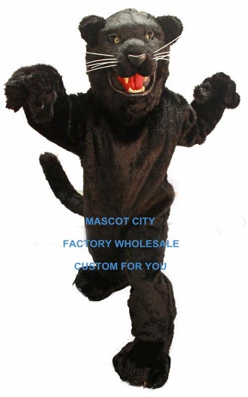 Fierce Black Panther Mascot Costume Adult Size Wild Animal