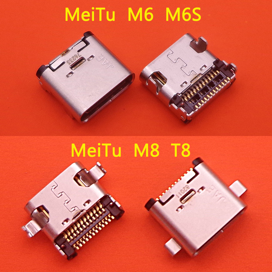 1pc for Meitu M6 M6S M8 <font><b>T8</b></font> Micro USB jack Socket Connector Type C Mobile Phone Charging charger port power <font><b>Plug</b></font> dock image