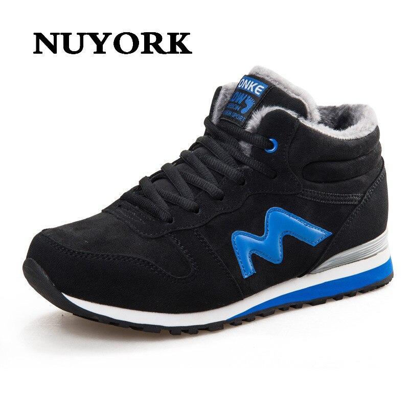 Nuyork Лидер продаж 2017 модная новинка мужчины носят резиновая обувь для фитнеса Зимние Открытый Восхождение Повседневная Balanceds мужчин Size40-45 зи…