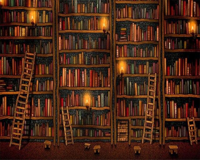 Boekenkast Behang Woonkamer. Online Shop Punahou Vintage Boekenkast ...
