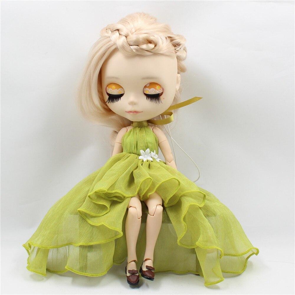 Neo Blythe Doll Chiffon Dress with Flower 6