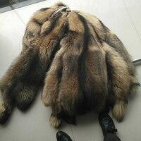 Высочайшее качество натуральный мех енота Пелт реальный енота из меха енота кожи