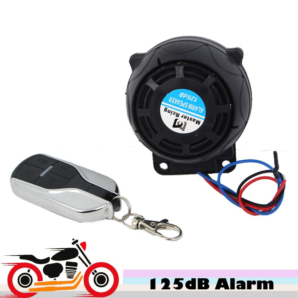 9-16v 125dB Motorcycle Scooter Alarm Moto Anthi Theft System For Suzuki GSXR GSX-R Gixxer 600 Harley Davidson Street Glide