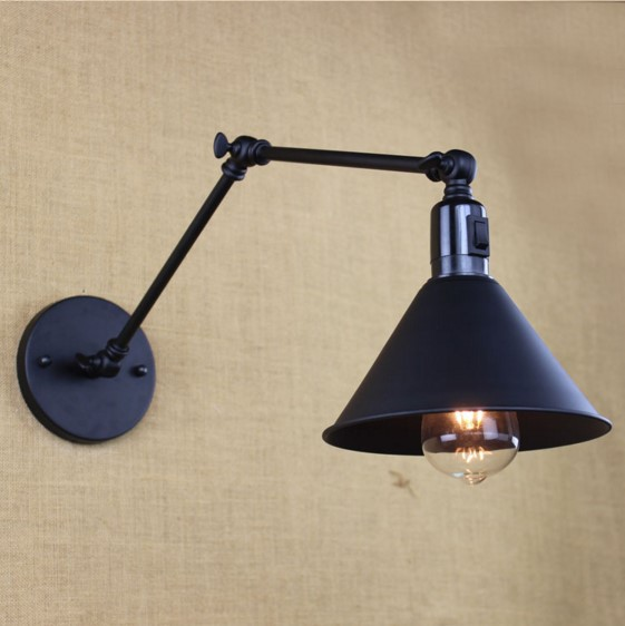 25cm Arm LED Wall Light In Style Loft Industrial Vintage Wall Lamp Edison Wall Sconce Arandela Lampara Pared Aplik edison adjustable arm light vintage wall lamp style loft industrial wall sconce arandelas lampara pared