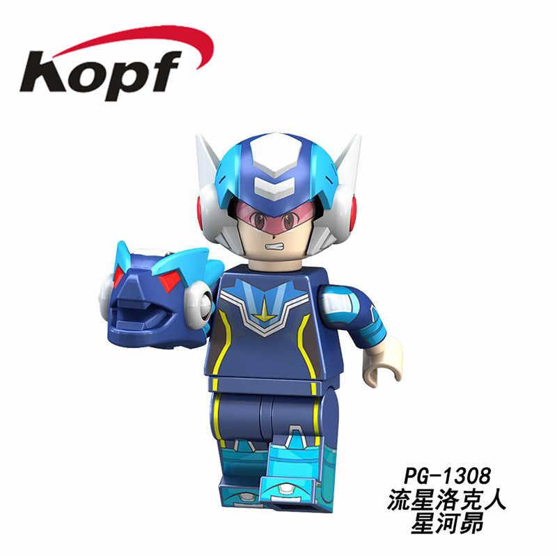 PG8137 superbohaterowie Yuanzu Rockman Ax światło gorące wiadro Meteor figurki klocki kolekcja dla dzieci zabawki prezentowe