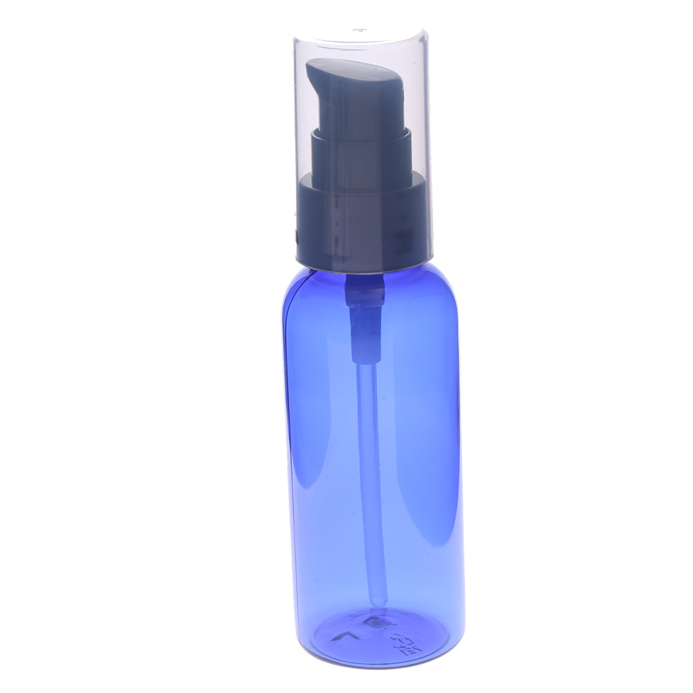 Hot 50ml Blue Spray Bottle Essential Oil Liquid Sprayer Travel Empty Perfume Dispenser Fine Mist Atomizer Cosmetic Container