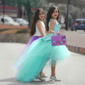 2 Pieces High Low Tulle Kids Dresses Cheap Pageant Dresses Appliques Tank Tutu Skirts Communion Dress Flower Birthday Dresses