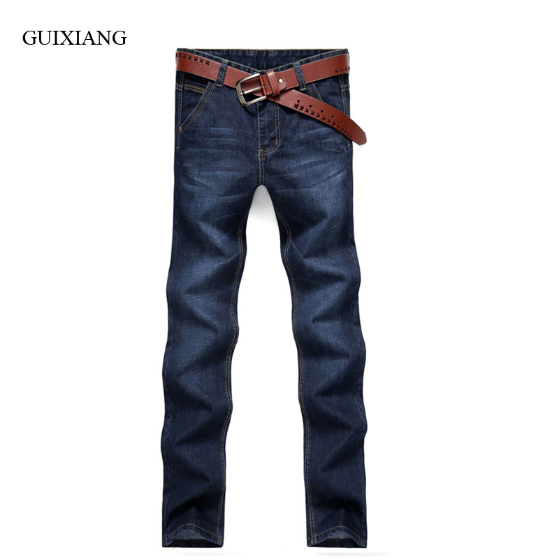 New Arrival Style Men Boutique Denim Jeans Business Casual Solid Straight Trousers Men's Youth Casual Slim Pants Large Size28-38