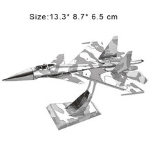 3D Metal Puzzles Model DIY SU-34 Fighter Military Manually Jigsaw Collection Educational Toys Adult Child Holiday Gifts Present(China)