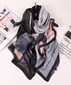 [Peacesky] 2016 moda pañuelo de tela escocesa de lujo mujer marca 100% mujeres bufanda de seda del mantón scarve hijab impresión