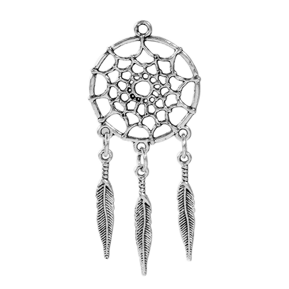 DoreenBeads Zinc Based Alloy Antique Silver Pendants