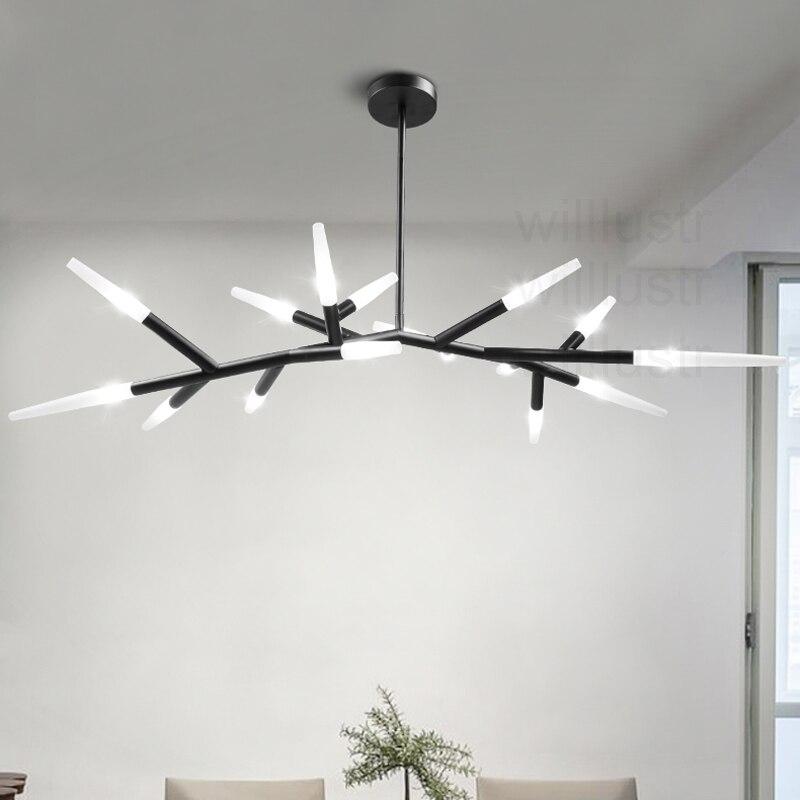 Moderne zwarte kofferbak hanglamp LED lamp melkglas lampenkap art ...