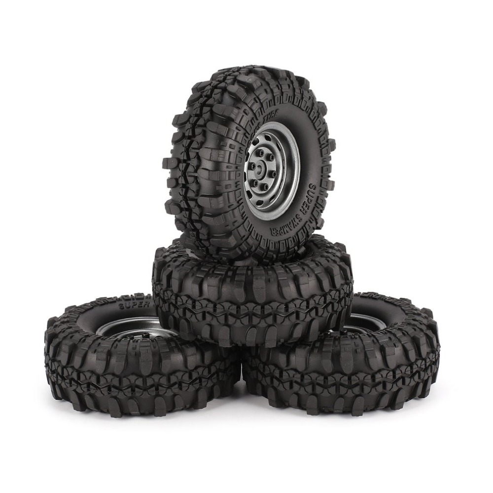 Remote Control Toys Smart 4pcs 1.9 Inch 110mm Rubber Tires Tire With Metal Wheel Rim Set For 1/10 Traxxas Trx-4 Scx10 Rc4 D90 Rc Crawler Car Part Colours Are Striking Parts & Accessories