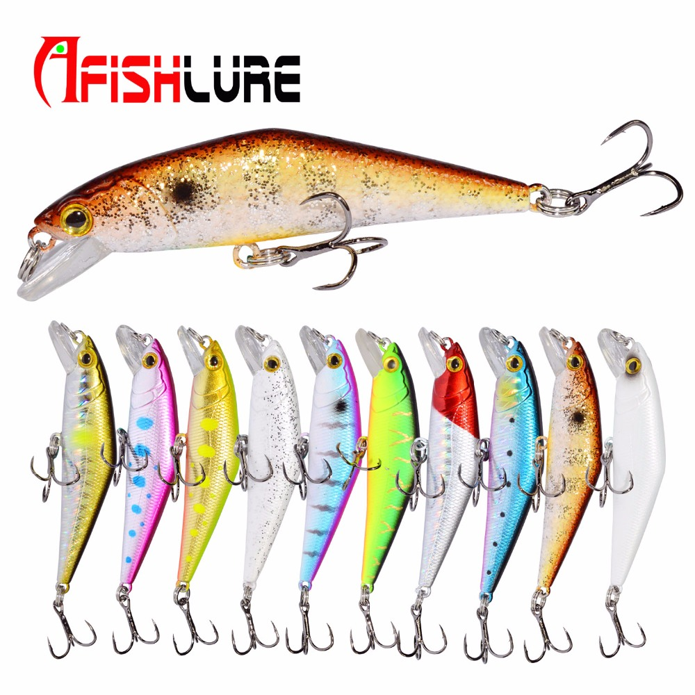 Bass Wobblers Trout Fishing Bait 66mm/8g Minnow Lures Hard Baits Iscas Artificial Pesca Leurre Lure Fishing 10pcs set 7g 8g fishing minnow lure reflective 3d eyes hard baits hooks for wobblers pike winter sea fishing iscas minnow