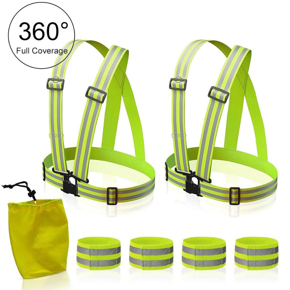 Reflective Vest High Visibility Safety Vest. One Size Fits All! Great for Running, Jogging, Walking, Cycling & Safety