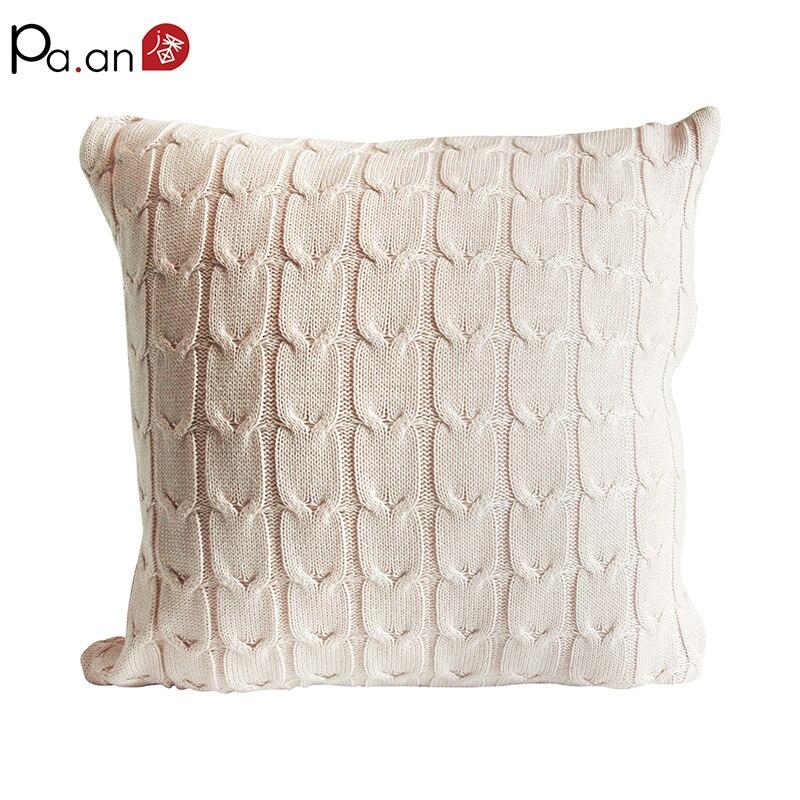 45x45 cm caso travesseiros capa de almofada vintage sólidos malha bege quadrado sofá carro casa fornecimento de natal frete grátis