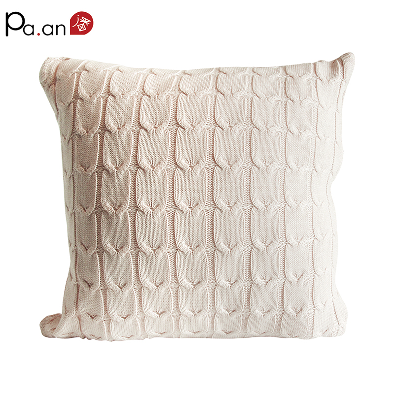 45x45cm vintage cushion cover solid knitted square beige pillows case car sofa home christmas supply free shipping