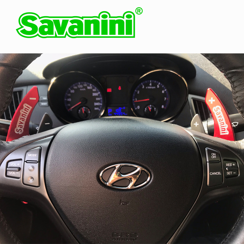 Extension de manette de vitesse de changement de volant en aluminium Savanini pour Hyundai Genesis coupé 2009-2011 an