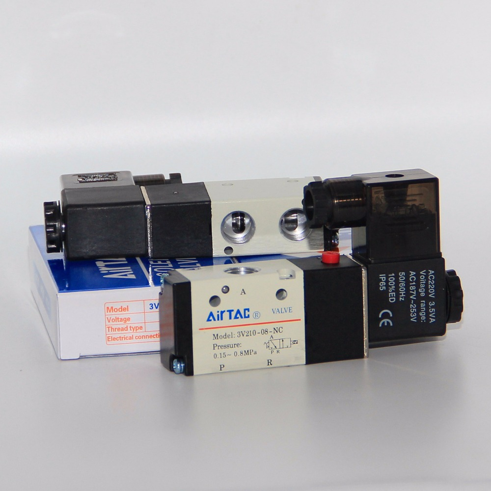 5PCS Free shipping Pneumatic valve solenoid valve 3V410-15-NO Normally open DC24V AC220V,1/2 , 3 port 2 position 3/2 way, 2pcs free shipping pneumatic valve solenoid valve 3v410 15 nc normally closed dc24v ac220v 1 2 3 port 2 position 3 2 way