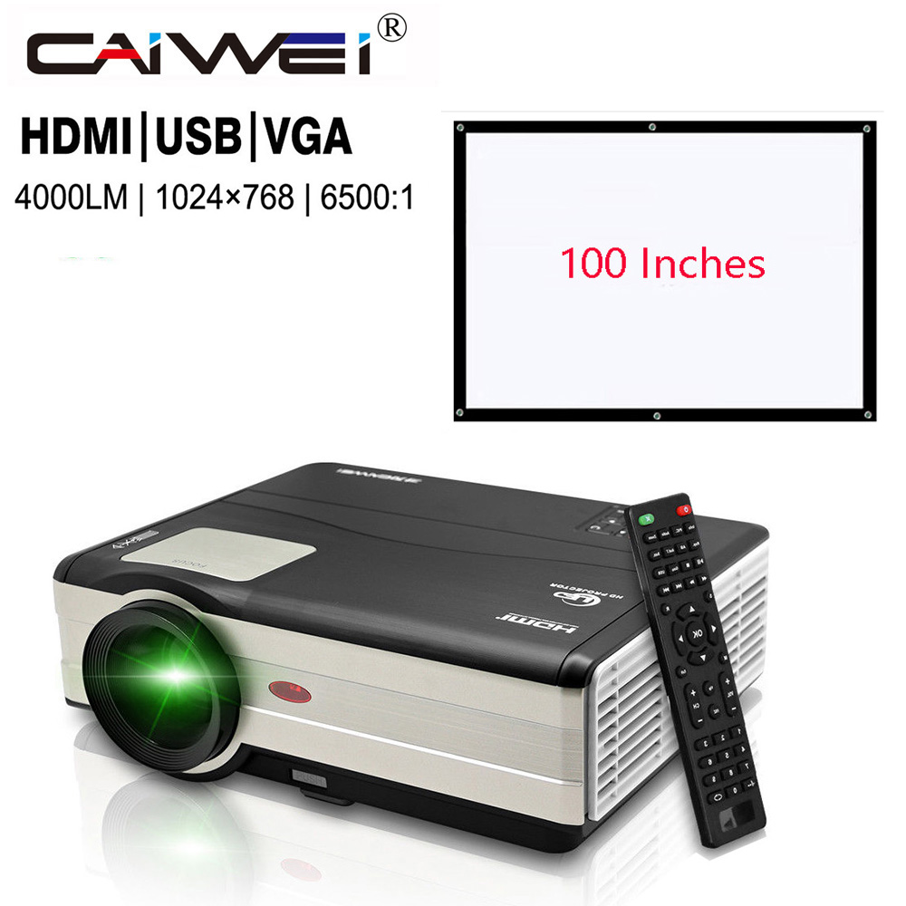 Caiwei Digital Led Projector Home Theater Beamer Lcd: CAIWEI Home Theatre Latest Led Projector Mobile Phone 4000