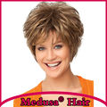 Medusa hair products: Sophisticated shag styles Synthetic pastel wigs for women Short wavy Mix color wig with bangs SW0126A