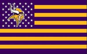 ce8c55bab QDYINA purple gold Minnesota Vikings stars stripes flag