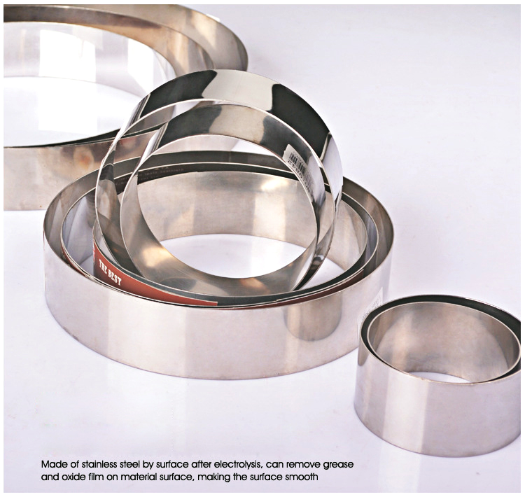 Round Stainless Steel Mousse Rings Mold Circular Bread Ring Mold Baking Wedding Molds Ustensiles Patisserie