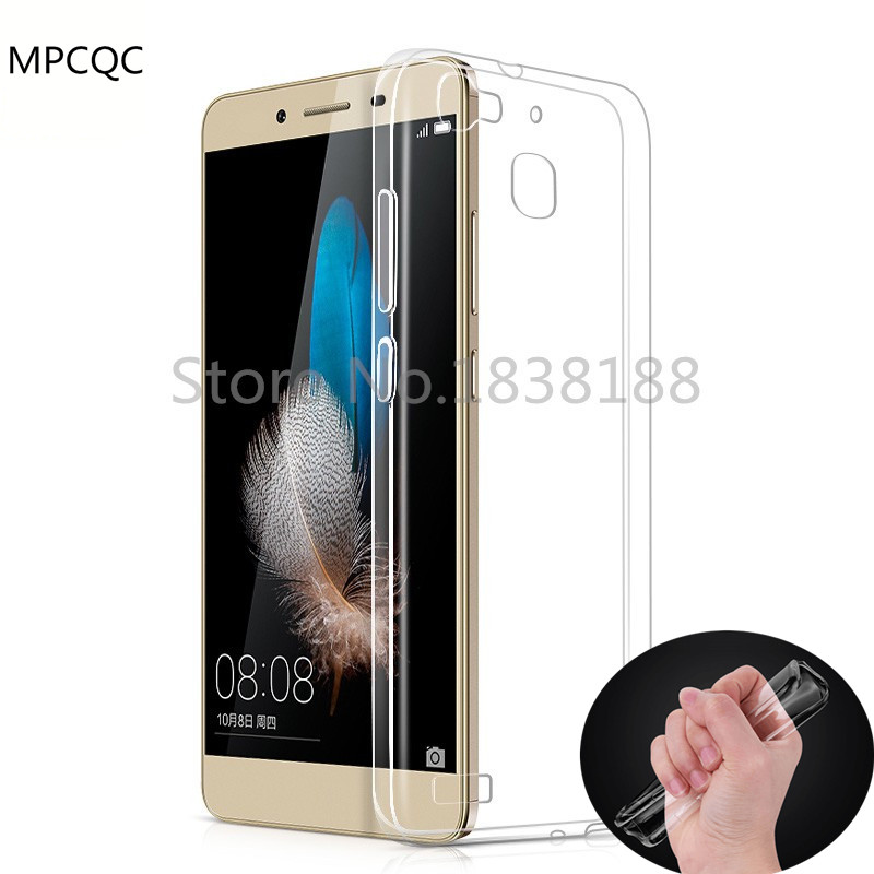MPCQC Transparent Crystal Clear Silicon Back Cover Phone Case Huawei Y3 Y5 Y6 II P10 P8 Lite P9 Plus Honor 6X 7 8 7i V8 5C 9 V9