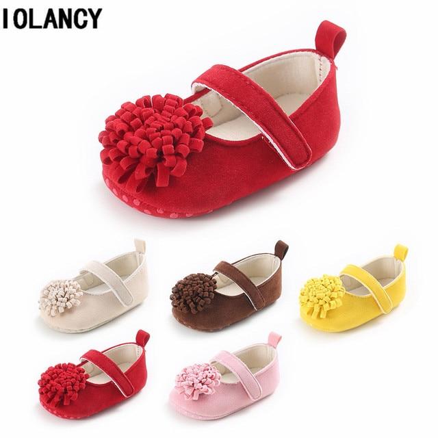 7191a777c57a2 0-1 an bébé fille première marche chaussures couleur bonbon semelle souple  nouveau-né