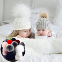 2018 Korean Style Mommy And Baby Cap Family Matching Outfits Russian Hat For Kids Knitted Warm