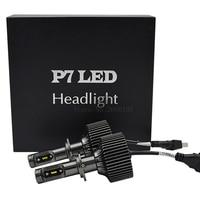 2PCS NEW All In One Car LED Headlight Bulb P7 H7 Socket High Power 30W 4200LM